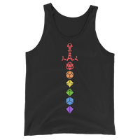 Dungeons and Dragons Shirt - Rainbow Dice Sword Solid Colors Unisex RPG Tank Top - DnD Shirts Dungeon Armory