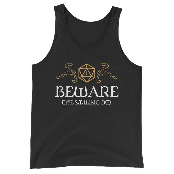 Beware the Smiling DM Unisex RPG Tank Top - Dungeon Armory
