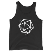 D20 Dice White Spray Paint Unisex RPG Tank Top - Dungeon Armory - Tabletop RPG Shirt Dungeons & Dragons T-Shirt Pathfinder RPG T-Shirt