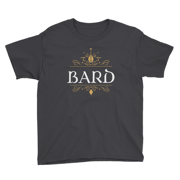 Bard Youth Short Sleeve T-Shirt - Dungeon Armory - Tabletop RPG Shirt Dungeons & Dragons T-Shirt Pathfinder RPG T-Shirt