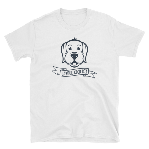 Lawful Good Boy for Dog Lovers Unisex RPG T-Shirt - Dungeon Armory - Tabletop RPG Shirt Dungeons & Dragons T-Shirt Pathfinder RPG T-Shirt