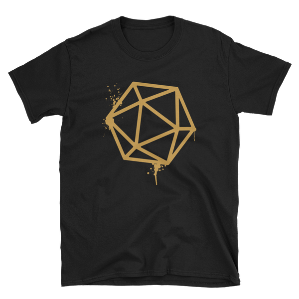 Dungeons and Dragons Shirt - D20 Dice Bronze Spray Paint Unisex RPG Shirt - DnD Shirts Dungeon Armory