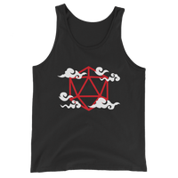 Polyhedral D20 Dice Anime Clouds Unisex RPG Tank Top - Dungeon Armory - Tabletop RPG Shirt Dungeons & Dragons T-Shirt Pathfinder RPG T-Shirt