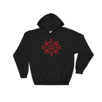 Dungeons and Dragons Shirt - Red D20 Dice Hooded Sweatshirt - DnD Shirts Dungeon Armory