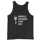 Muscle Wizards Cast Fist Wizard Unisex RPG Tank Top - Dungeon Armory - Tabletop RPG Shirt Dungeons & Dragons T-Shirt Pathfinder RPG T-Shirt