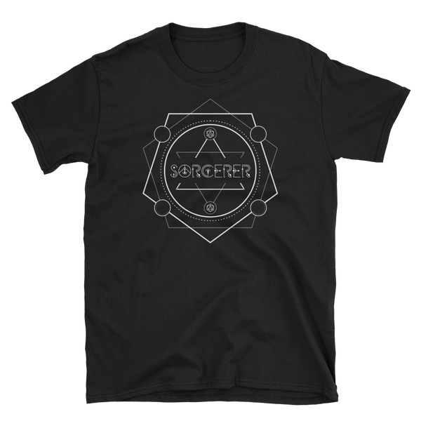 Sorcerer Minimalist Emblem Unisex RPG Shirt - Dungeon Armory - Tabletop RPG Shirt Dungeons & Dragons T-Shirt Pathfinder RPG T-Shirt