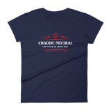 Chaotic Neutral Alignment Women's RPG Shirt - Dungeon Armory - Tabletop RPG Shirt Dungeons & Dragons T-Shirt Pathfinder RPG T-Shirt