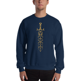 Dungeon Armory's Polyhedral Dice Sword Unisex Crewneck Sweatshirt - Dungeon Armory - Tabletop RPG Shirt Dungeons & Dragons T-Shirt Pathfinder RPG T-Shirt