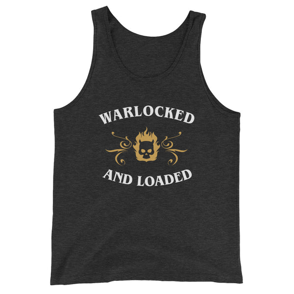 Dungeons and Dragons Shirt - Warlocked and Loaded Warlock Unisex RPG Tank Top - DnD Shirts Dungeon Armory