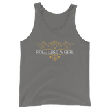 Roll a Like a Girl Unisex RPG Tank Top - Dungeon Armory - Tabletop RPG Shirt Dungeons & Dragons T-Shirt Pathfinder RPG T-Shirt