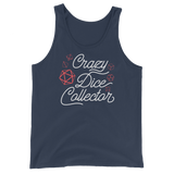 Crazy Dice Collector - Red Dice Set - Unisex RPG Tank Top - Dungeon Armory - Tabletop RPG Shirt Dungeons & Dragons T-Shirt Pathfinder RPG T-Shirt