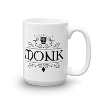 Dungeons and Dragons Shirt - Monk Emblem White Ceramic D&D Mug - DnD Shirts Dungeon Armory
