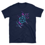 Cyberpunk Abstract Polyhedral D20 Dice RPG T-Shirt - Dungeon Armory