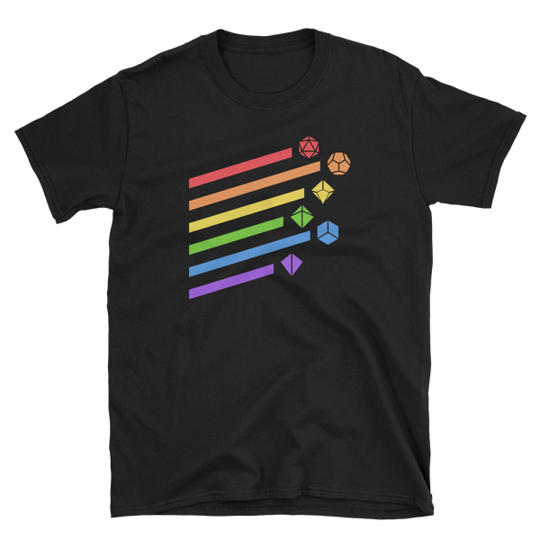 Rainbow Dice Set Unisex RPG Shirt - Dungeon Armory - Tabletop RPG Shirt Dungeons & Dragons T-Shirt Pathfinder RPG T-Shirt