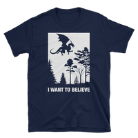 Dungeons and Dragons Shirt - I Want to Believe - Dragons RPG shirt - DnD Shirts Dungeon Armory