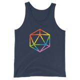 Rainbow Polyhedral D20 Dice Unisex RPG Tank Top - Dungeon Armory - Tabletop RPG Shirt Dungeons & Dragons T-Shirt Pathfinder RPG T-Shirt
