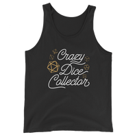 Crazy Dice Collector Unisex RPG Tank Top - Dungeon Armory - Tabletop RPG Shirt Dungeons & Dragons T-Shirt Pathfinder RPG T-Shirt