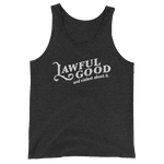 Lawful Good and Violent About It Paladin Unisex RPG Tank Top - Dungeon Armory - Tabletop RPG Shirt Dungeons & Dragons T-Shirt Pathfinder RPG T-Shirt
