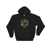 Rainbow Polyhedral D20 Dice Unisex Hoodie Shirt - Dungeon Armory - Tabletop RPG Shirt Dungeons & Dragons T-Shirt Pathfinder RPG T-Shirt