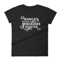 World's Okayest Miniature Painter RPG Shirt - Dungeon Armory - Tabletop RPG Shirt Dungeons & Dragons T-Shirt Pathfinder RPG T-Shirt