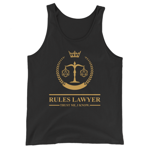 Rules Lawyer - Trust Me, I Know Unisex RPG Tank Top - Dungeon Armory - Tabletop RPG Shirt Dungeons & Dragons T-Shirt Pathfinder RPG T-Shirt