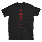 Red Dice Sword RPG Shirt - Dungeon Armory - Tabletop RPG Shirt Dungeons & Dragons T-Shirt Pathfinder RPG T-Shirt