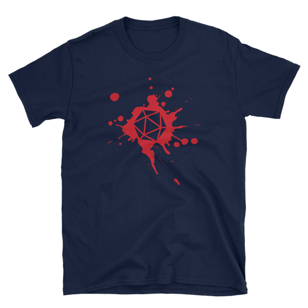 Dungeons and Dragons Shirt - D20 Dice Paint Splatter Unisex RPG Shirt - DnD Shirts Dungeon Armory