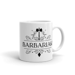 Barbarian Emblem White Ceramic D&D Mug - Dungeon Armory - Tabletop RPG Shirt Dungeons & Dragons T-Shirt Pathfinder RPG T-Shirt