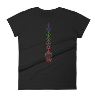 Rainbow Dice Arrow - Dice Collector Women's RPG Shirt - Dungeon Armory - Tabletop RPG Shirt Dungeons & Dragons T-Shirt Pathfinder RPG T-Shirt