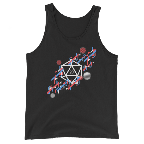 Abstract Polyhedral D20 Dice Unisex RPG Tank Top - Dungeon Armory - Tabletop RPG Shirt Dungeons & Dragons T-Shirt Pathfinder RPG T-Shirt