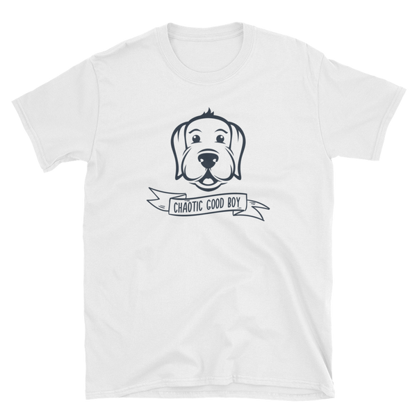 Chaotic Good Boy for Dog Lovers Unisex RPG T-Shirt - Dungeon Armory - Tabletop RPG Shirt Dungeons & Dragons T-Shirt Pathfinder RPG T-Shirt