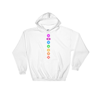 Chakra Polyhedral Dice Set Unisex RPG Hoodie - Dungeon Armory - Tabletop RPG Shirt Dungeons & Dragons T-Shirt Pathfinder RPG T-Shirt