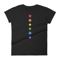 Colorful Polyhedral Dice Set Minimalistic Women's Shirt - Dungeon Armory - Tabletop RPG Shirt Dungeons & Dragons T-Shirt Pathfinder RPG T-Shirt