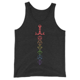 Rainbow Dice Set Sword Silhouette Unisex RPG Tank Top - Dungeon Armory - Tabletop RPG Shirt Dungeons & Dragons T-Shirt Pathfinder RPG T-Shirt