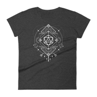 Minimalist D20 Dice Sacred Symbols Women's RPG Shirt - Dungeon Armory - Tabletop RPG Shirt Dungeons & Dragons T-Shirt Pathfinder RPG T-Shirt