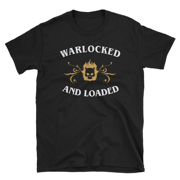 Dungeons and Dragons Shirt - Warlocked and Loaded - Warlock Unisex RPG Shirt - DnD Shirts Dungeon Armory