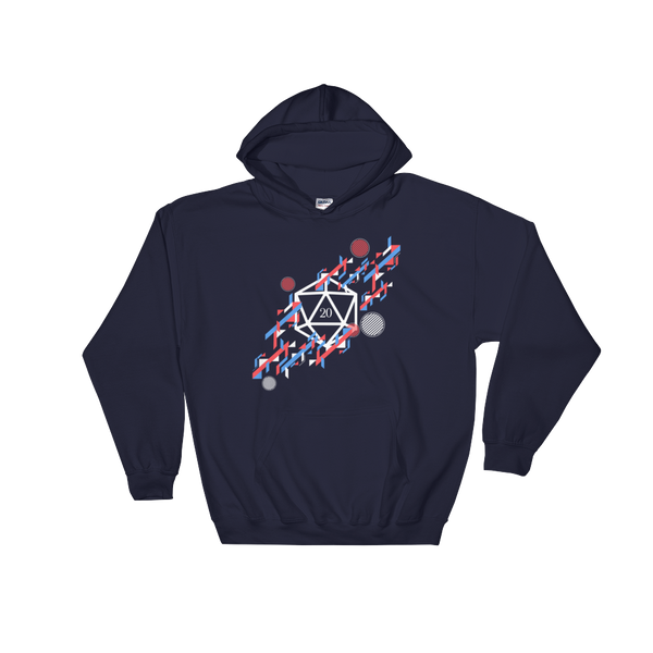 Dungeons and Dragons Shirt - Abstract Polyhedral D20 Dice Unisex RPG Hoodie - DnD Shirts Dungeon Armory