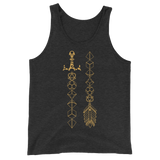Dice Sword and Arrow Unisex RPG Tank Top - Dungeon Armory - Tabletop RPG Shirt Dungeons & Dragons T-Shirt Pathfinder RPG T-Shirt