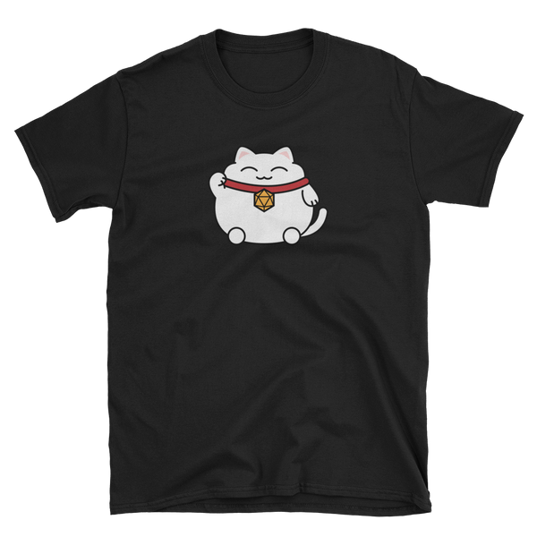Lucky 20 Sided Dice Cat Unisex RPG Shirt