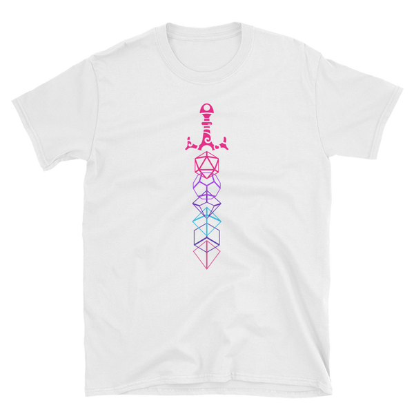 Cyberpunk Polyhedral Dice Sword - Dungeon Armory - Tabletop RPG Shirt Dungeons & Dragons T-Shirt Pathfinder RPG T-Shirt