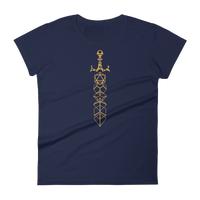 Dice Sword Women's RPG Shirt - Dungeon Armory - Tabletop RPG Shirt Dungeons & Dragons T-Shirt Pathfinder RPG T-Shirt