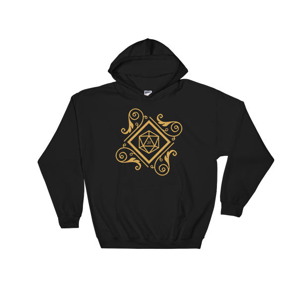 Dungeons and Dragons Shirt - Vintage Polyhedral D20 Dice Unisex RPG Hoodie - DnD Shirts Dungeon Armory