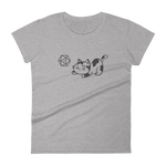 Dungeons and Dragons Shirt - Cute Cat with D20 Dice Women's RPG Shirt - DnD Shirts Dungeon Armory