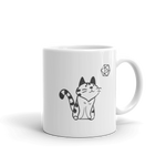 Dungeons and Dragons Shirt - Cute Cat With D20 Dice Critical White Ceramic D&D Mug - DnD Shirts Dungeon Armory
