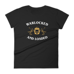 Dungeons and Dragons Shirt - Warlocked and Loaded Warlock Women's RPG Shirt - DnD Shirts Dungeon Armory