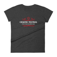 Dungeons and Dragons Shirt - Chaotic Neutral Alignment Women's RPG Shirt - DnD Shirts Dungeon Armory