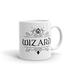 Dungeons and Dragons Shirt - Wizard Emblem White Ceramic D&D Mug - DnD Shirts Dungeon Armory