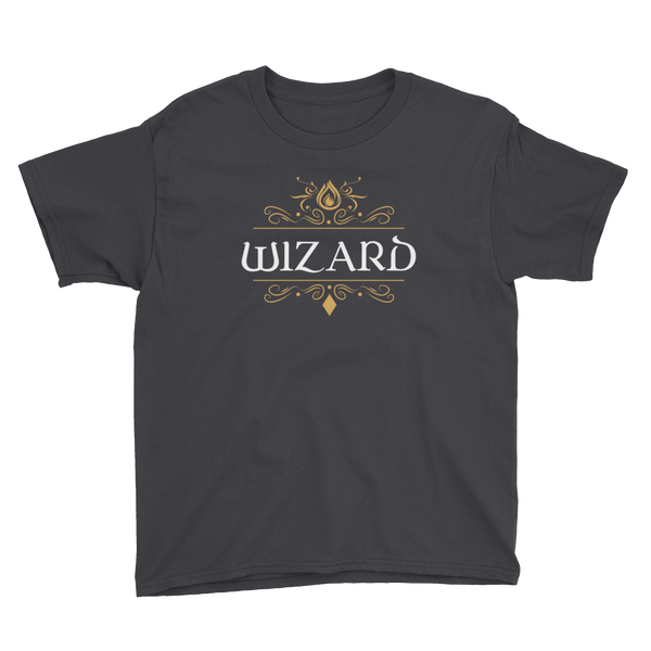 Dungeons and Dragons Shirt - Wizard Youth Short Sleeve T-Shirt - DnD Shirts Dungeon Armory