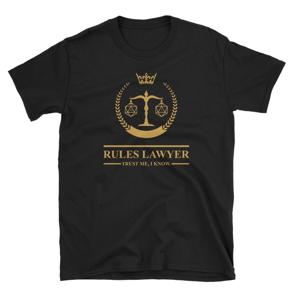 Rules Lawyer - Trust Me I Know Unisex RPG Shirt - Dungeon Armory - Tabletop RPG Shirt Dungeons & Dragons T-Shirt Pathfinder RPG T-Shirt