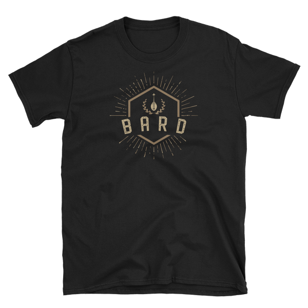 Bard Character Class Emblem Unisex RPG Shirt - Dungeon Armory - Tabletop RPG Shirt Dungeons & Dragons T-Shirt Pathfinder RPG T-Shirt